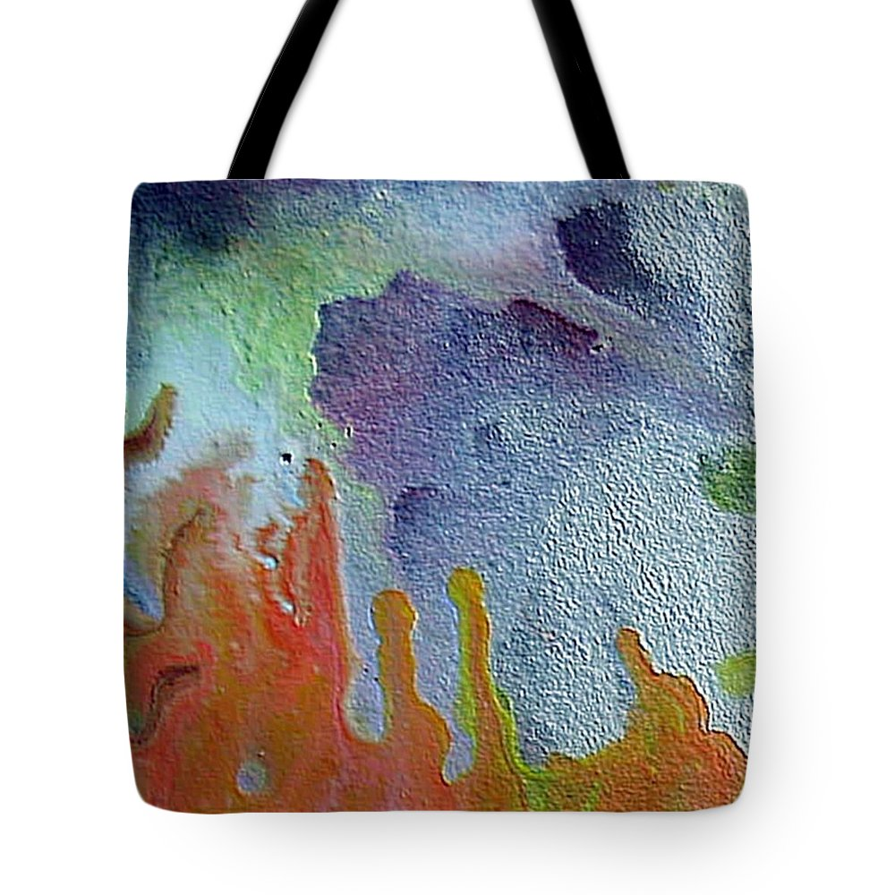 Abstract Encaustic Painting Tote Bag featuring the painting W 049 by Dragica Micki Fortuna