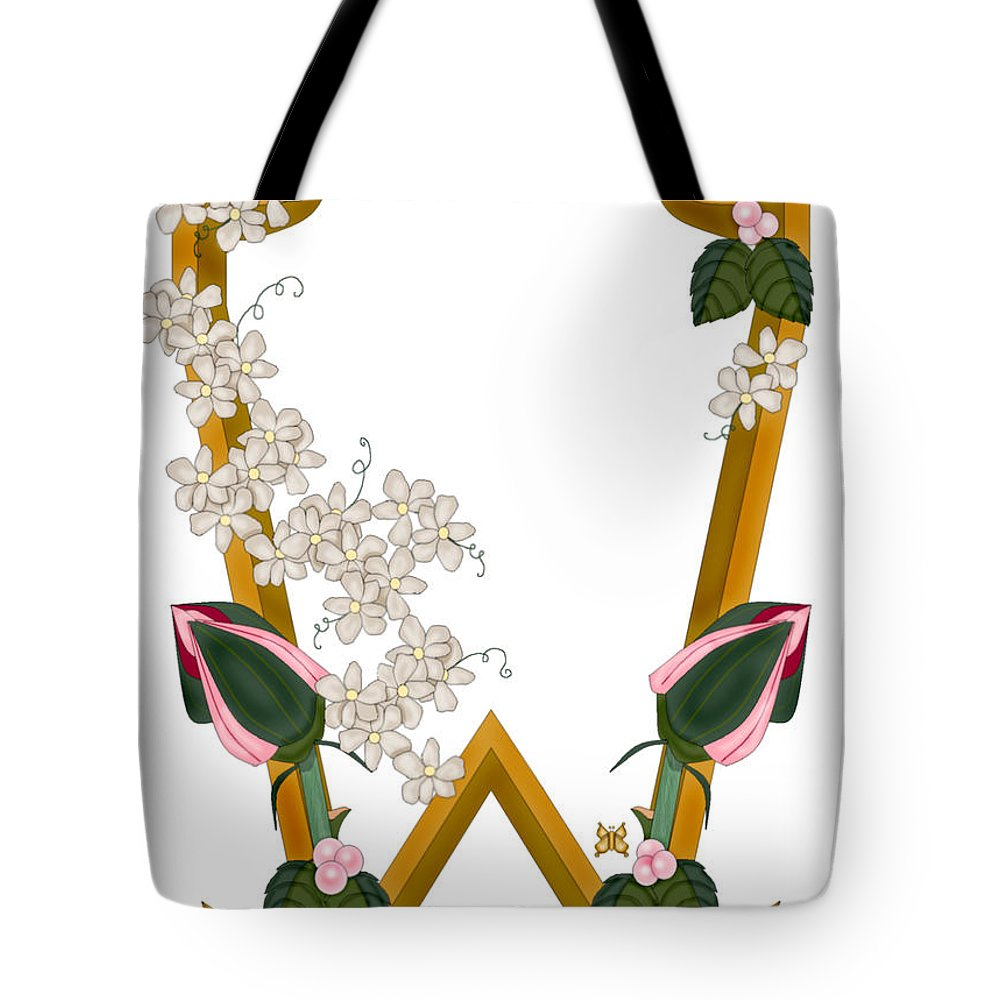 W Tote Bag featuring the painting W Is For Wonderful by Anne Norskog