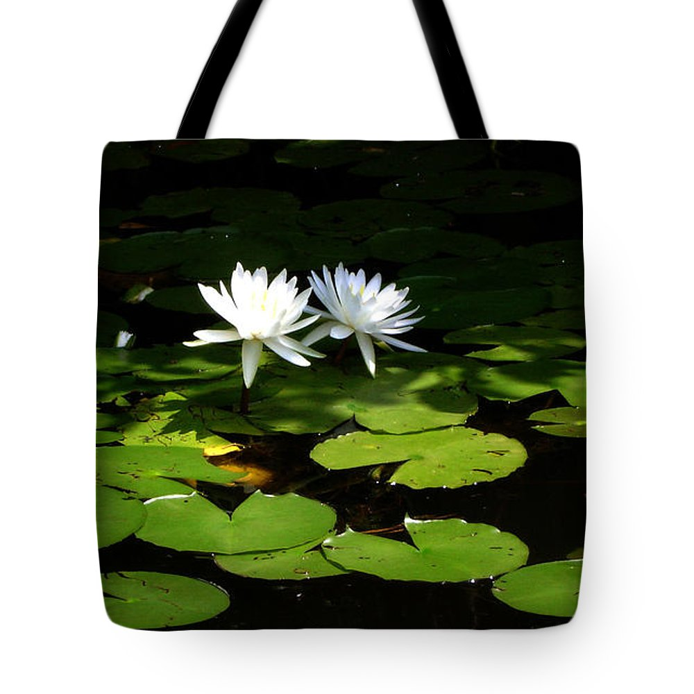 Water Tote Bag featuring the photograph Wading Fairies by Shelley Jones