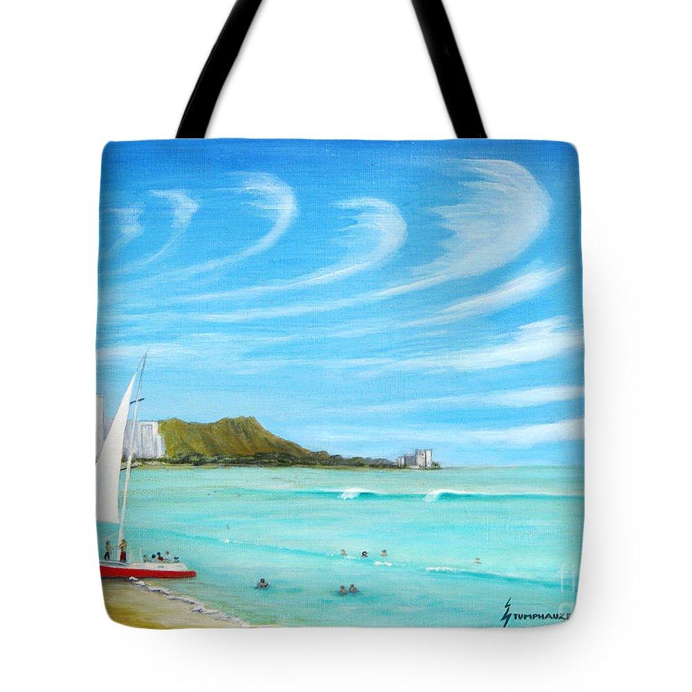 Waikiki Tote Bag featuring the painting Waikiki by Jerome Stumphauzer