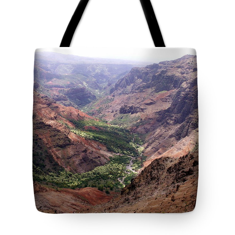 Waimea Tote Bag featuring the photograph Waimea Canyon 1 by Amy Fose