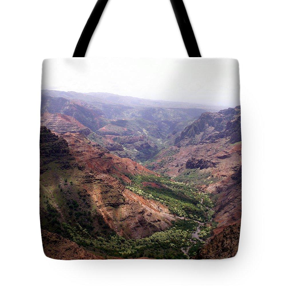 Waimea Tote Bag featuring the photograph Waimea Canyon 2 by Amy Fose