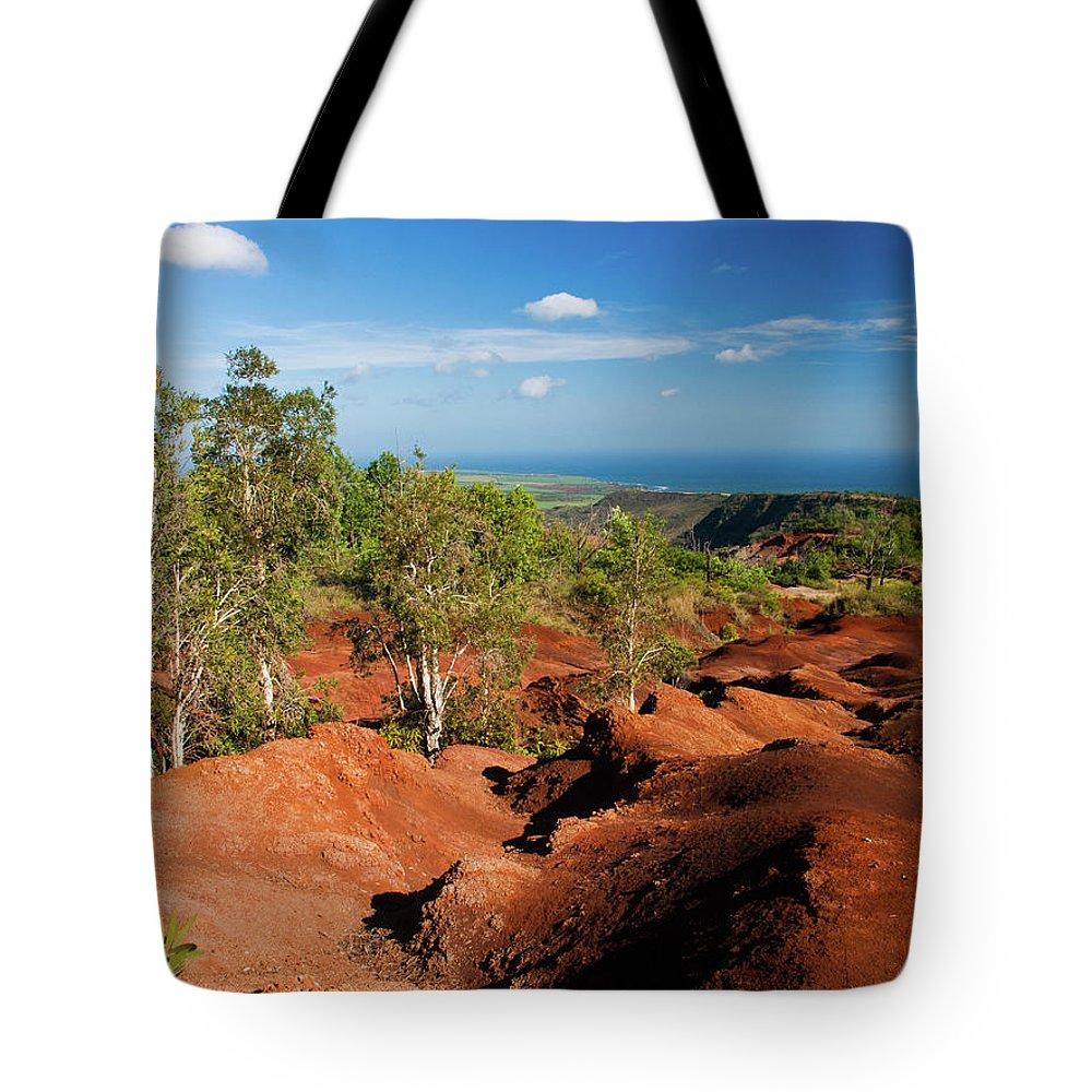 Kauai Tote Bag featuring the photograph Waimea Canyon by Roger Mullenhour