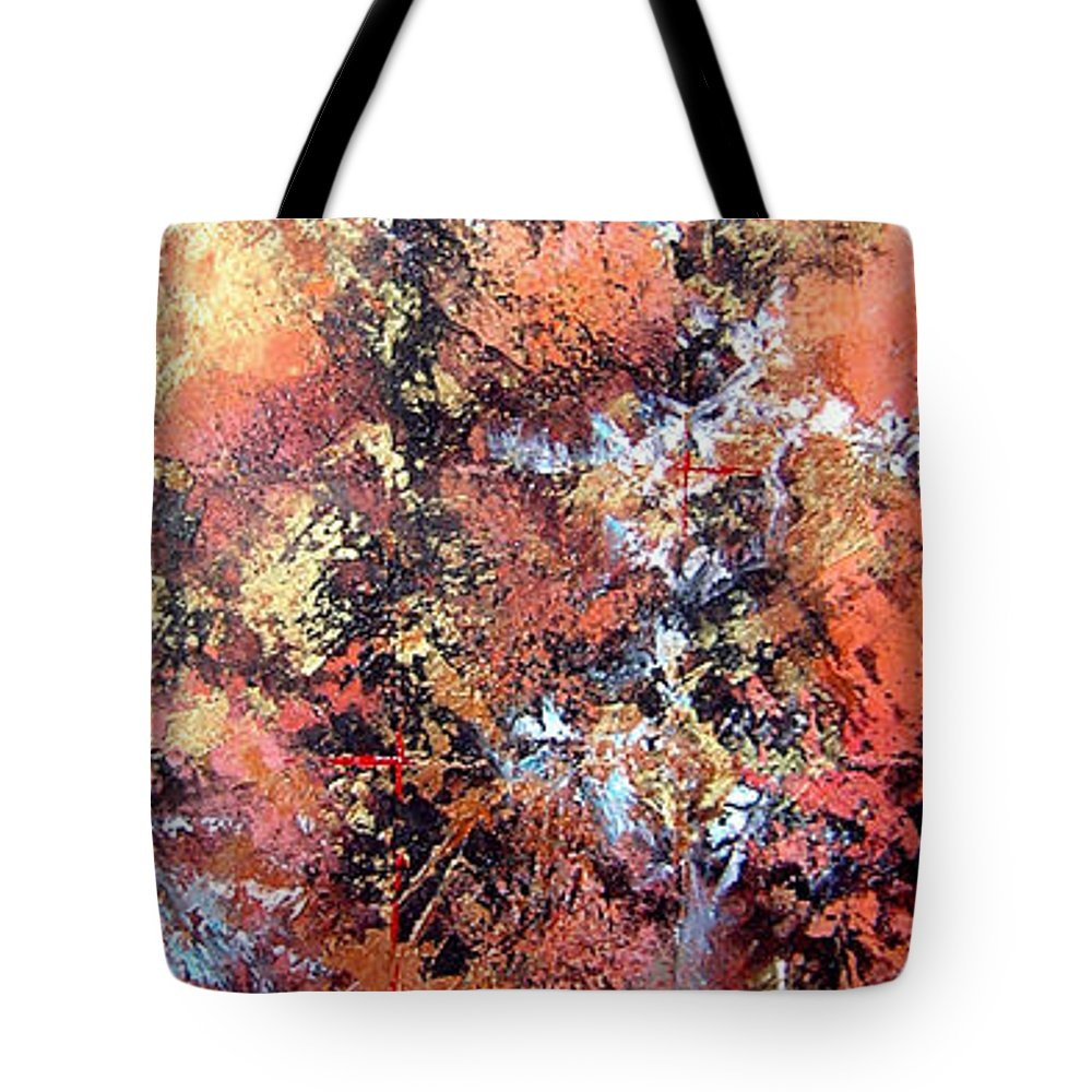 Tile Tote Bag featuring the painting Wait For Sleep by Shadia Derbyshire