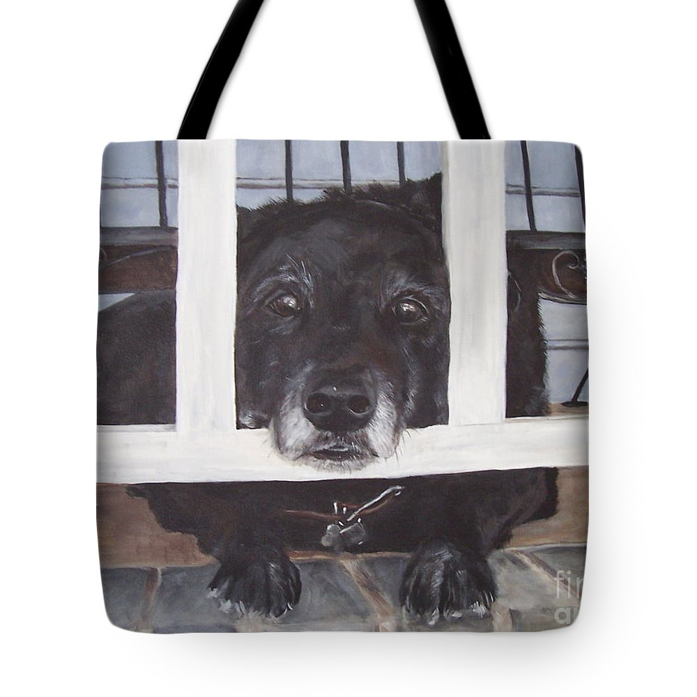 Dog Tote Bag featuring the painting Waiting by Elizabeth Ellis