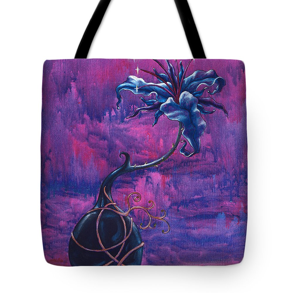 Lily Tote Bag featuring the painting Waiting Flower by Jennifer McDuffie