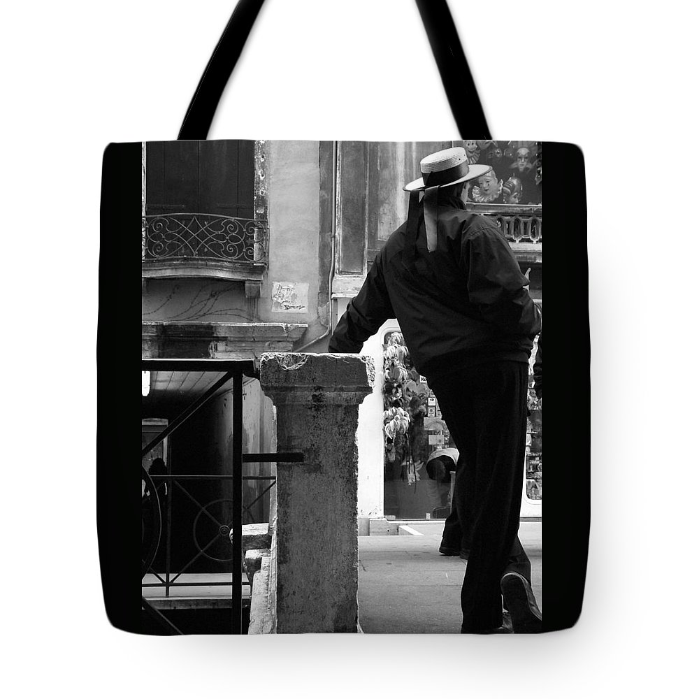 Venice Tote Bag featuring the photograph Waiting For Business by Donna Corless