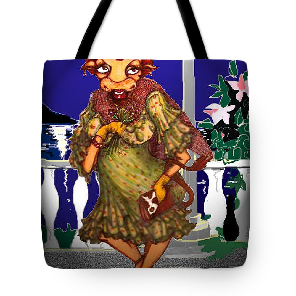 Art Tote Bag featuring the greeting card Waiting For Romance by Rae Chichilnitsky