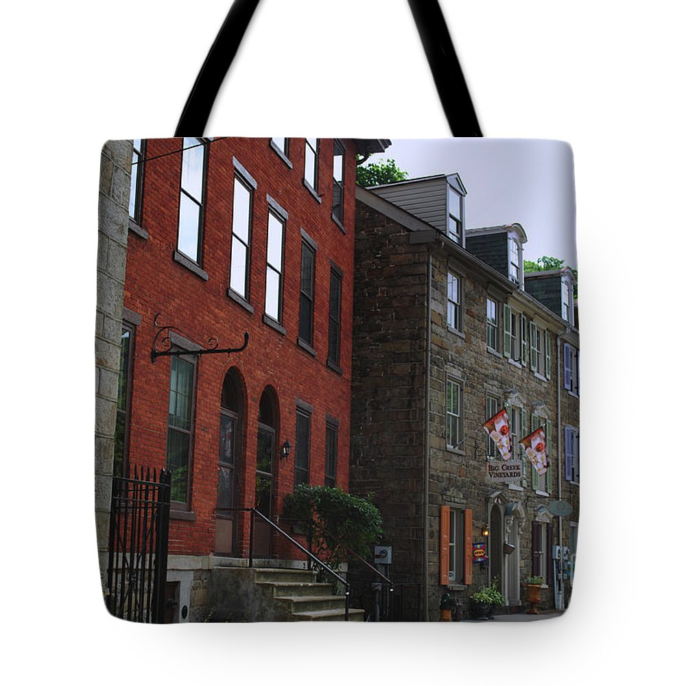 Architecture Tote Bag featuring the photograph Waiting For The Shoppers by Lori Tambakis