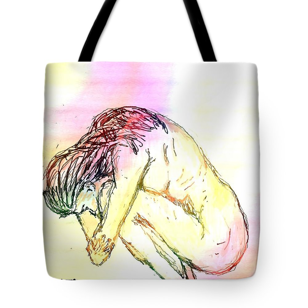 Lady Tote Bag featuring the digital art Waiting For The Wounds To Heal by Shelley Jones