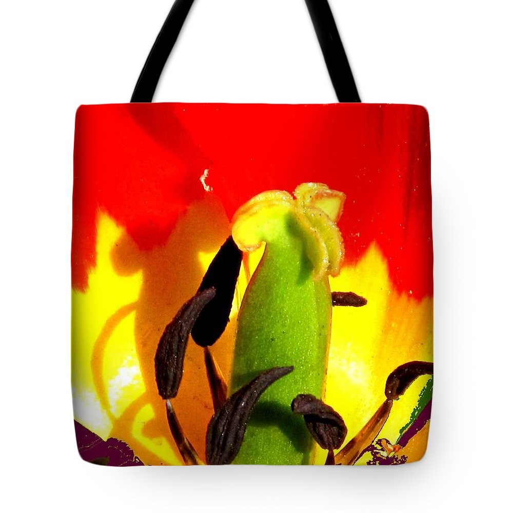 Abstract Tote Bag featuring the photograph Waiting by Ian MacDonald