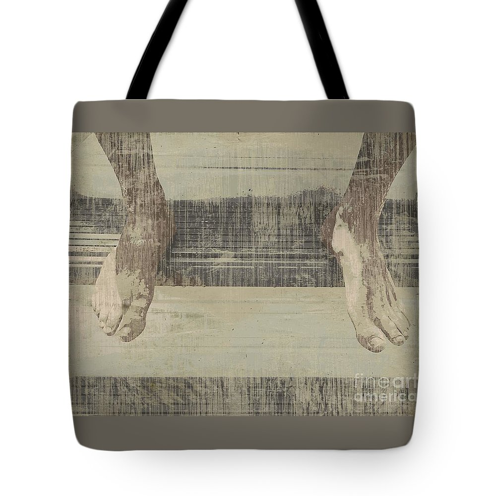 Feet Tote Bag featuring the photograph Waiting by Onedayoneimage Photography