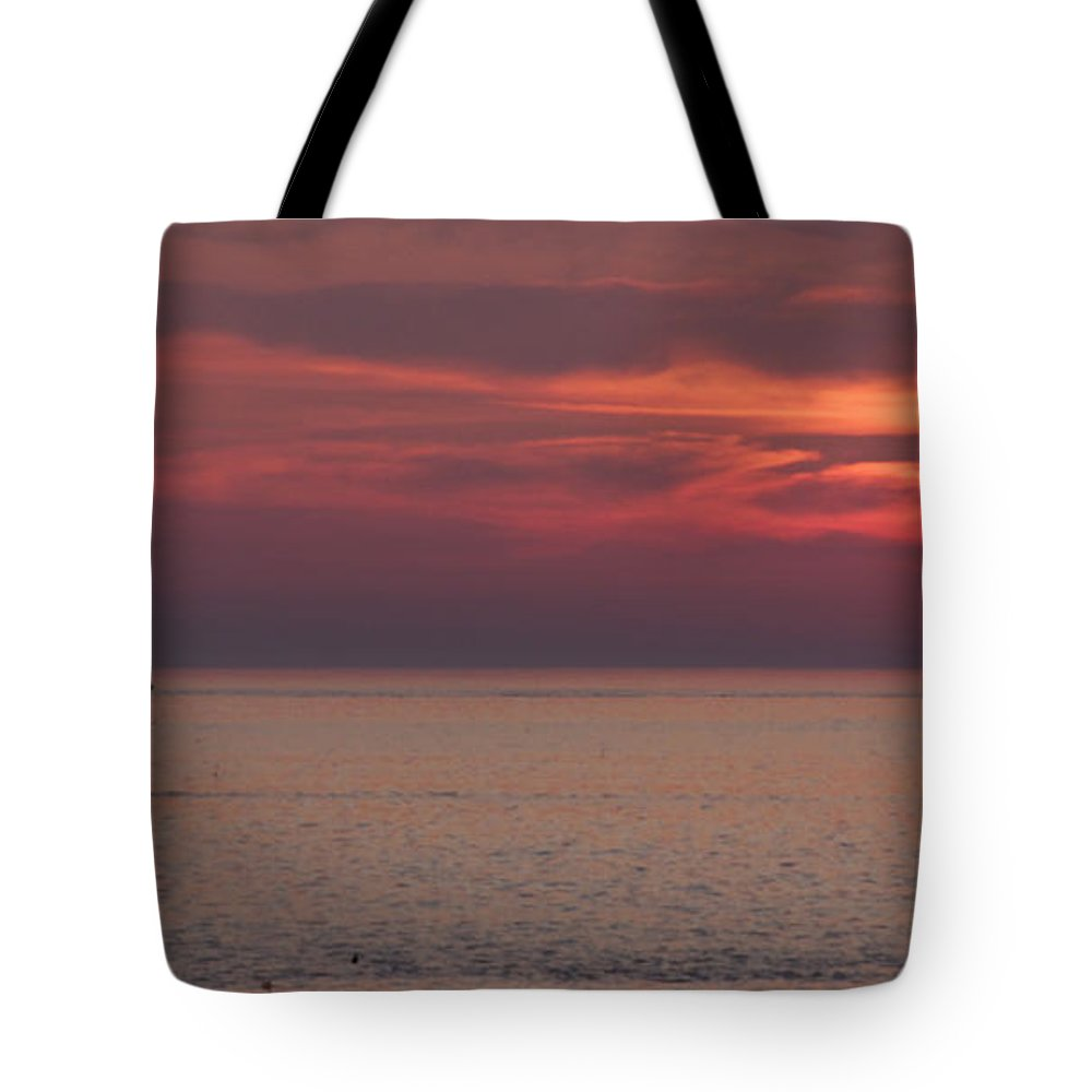 Sunrise Ocean Tote Bag featuring the photograph Waiting To Sail by Michael Mooney