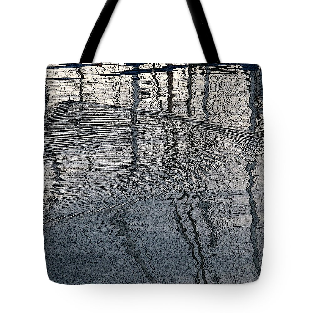 Animal Tote Bag featuring the photograph Wake Of The Grebe by Karl Huggins