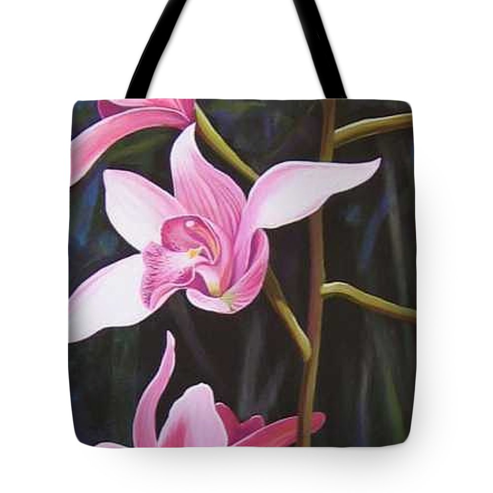 Orchids In Italy Tote Bag featuring the painting Waking Up In The Sun by Hunter Jay