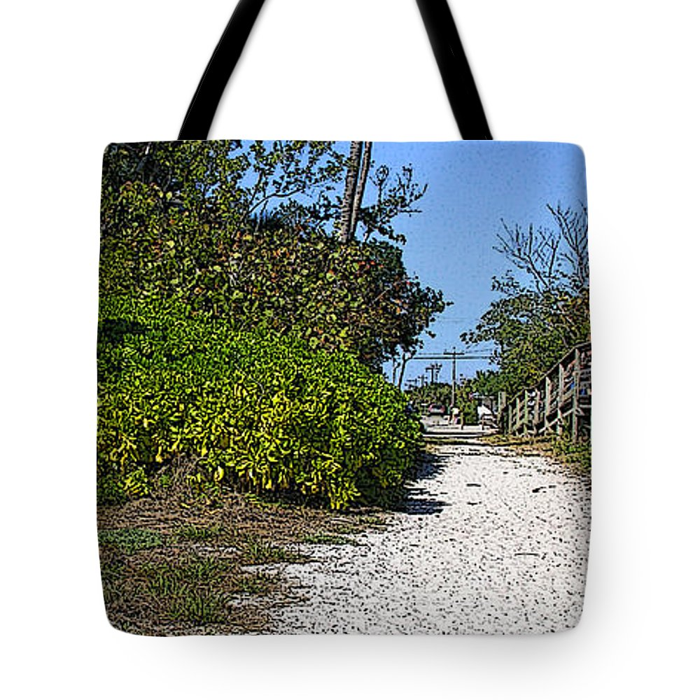 Beach Tote Bag featuring the photograph Walk To The Beach by Peggy Starks