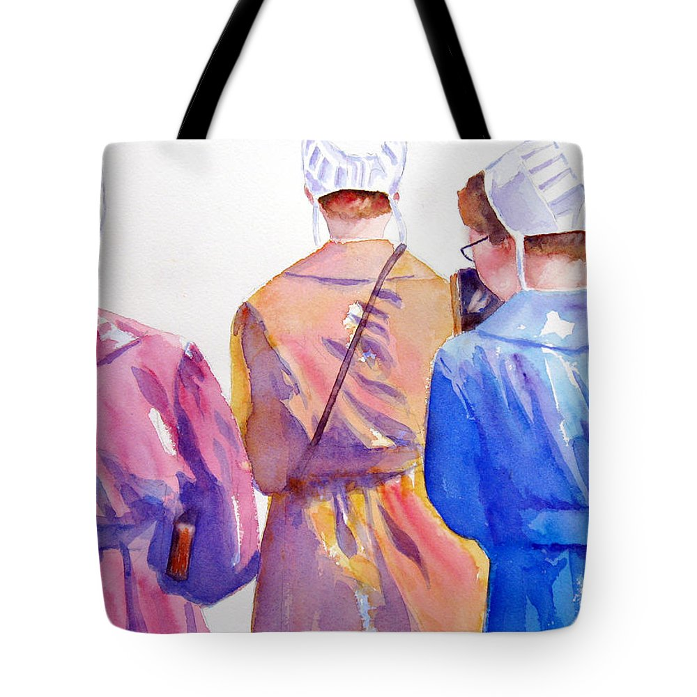 Amish Tote Bag featuring the painting Walking By Faith by Marsha Elliott