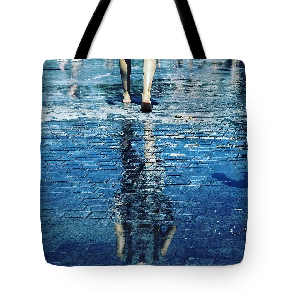 Swim Photographs Tote Bags