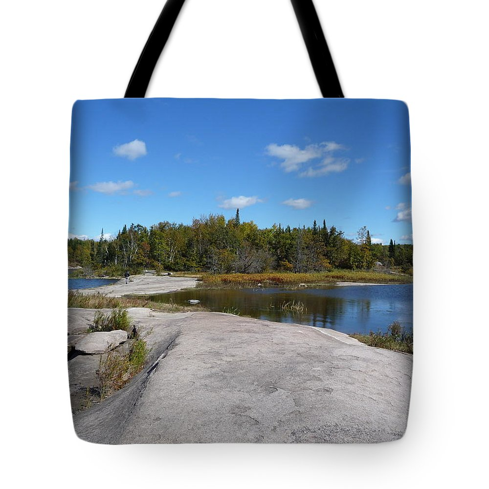 Rocks Tote Bag featuring the photograph Walking On The Whale's Back by Ruth Kamenev