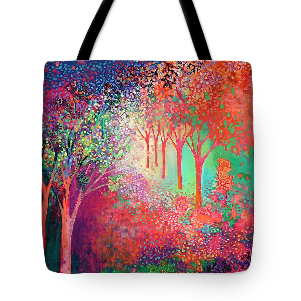 Tree Tote Bag featuring the painting Walking Toward The Light by Jennifer Lommers
