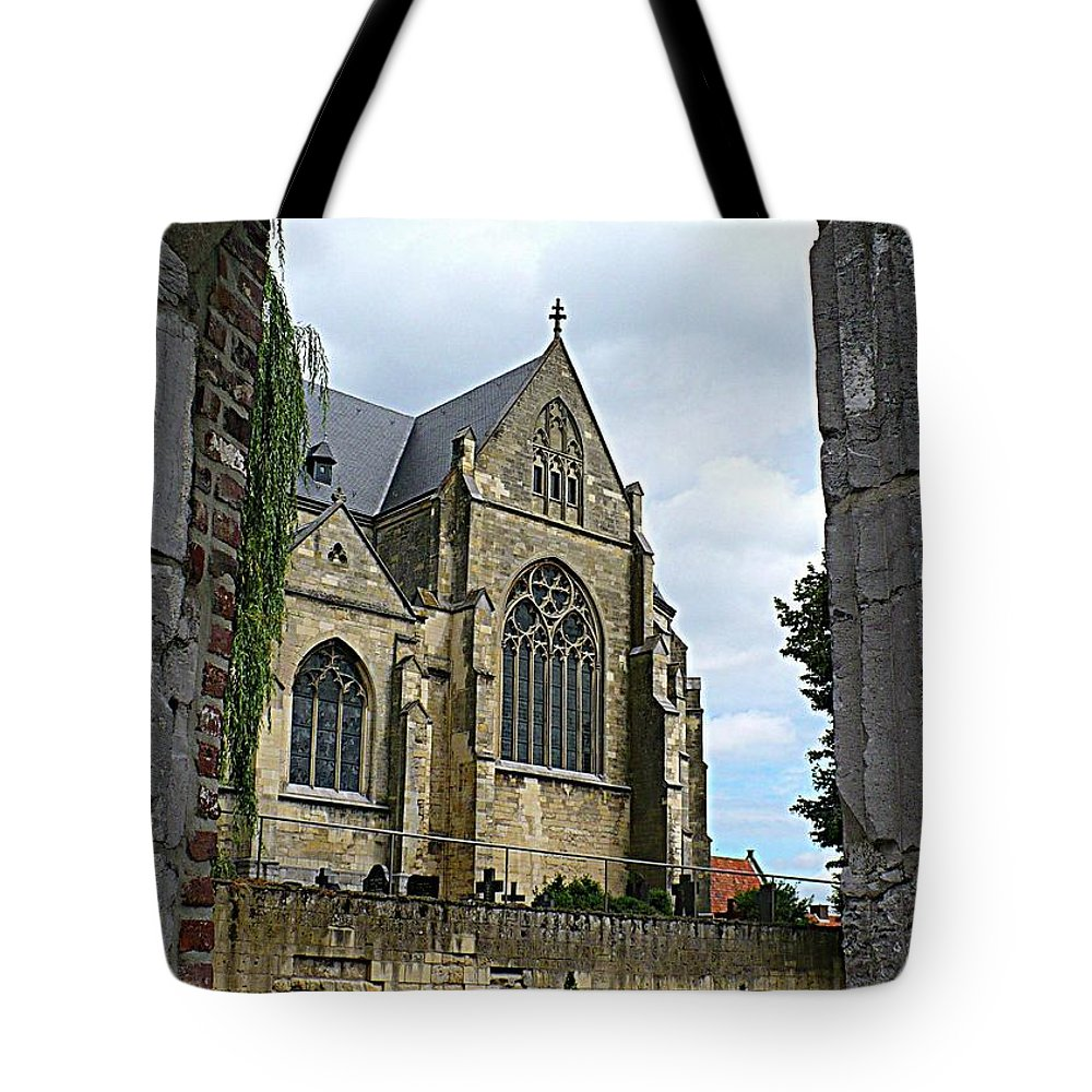 Church Tote Bag featuring the photograph Walkway To Thorn Cathedral by Carol Groenen