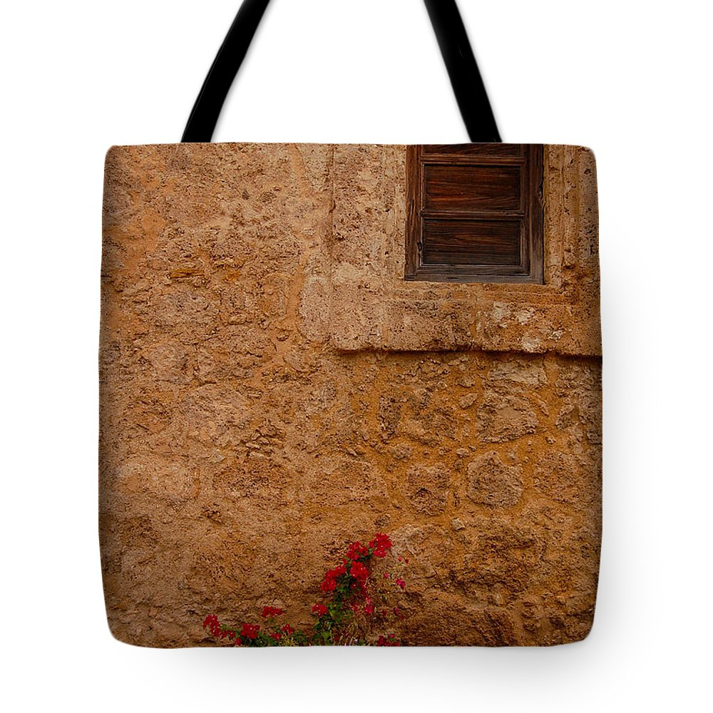 Walls Tote Bag featuring the photograph Wall Flowers by Robert Coffey