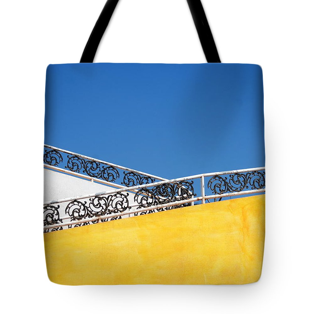 Wall Tote Bag featuring the photograph Walls And Sky by Catherine Lau