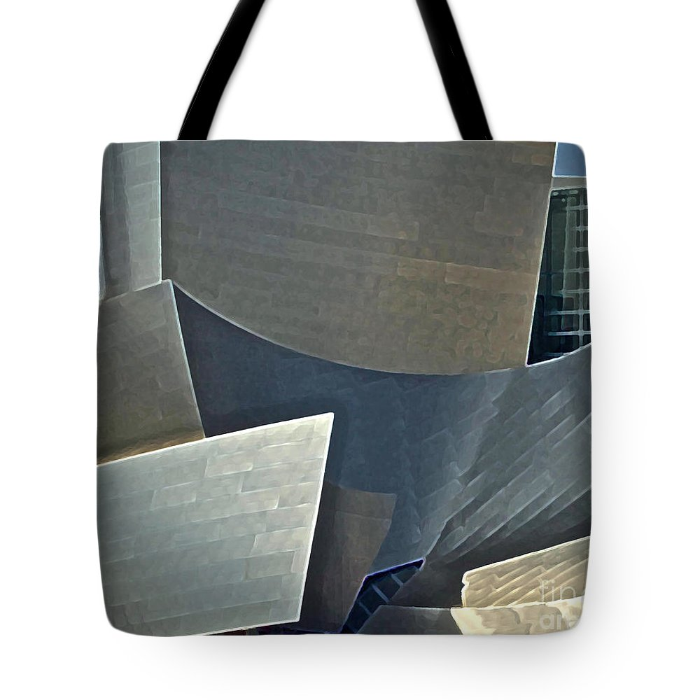 Philharmonic Tote Bag featuring the photograph Walt Disney Concert Center by Gwyn Newcombe