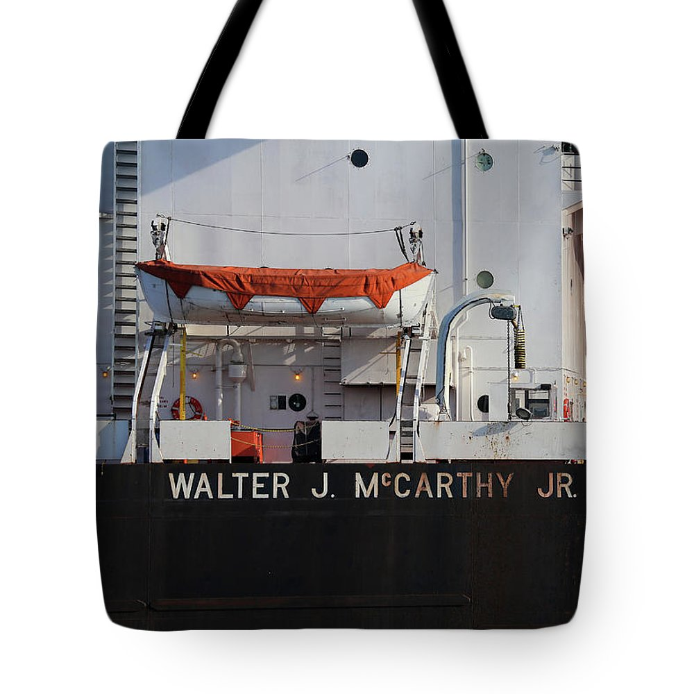 Walter J. Mccarthy Jr. Tote Bag featuring the photograph Walter J. Mccarthy Jr. Closeup 112917 by Mary Bedy