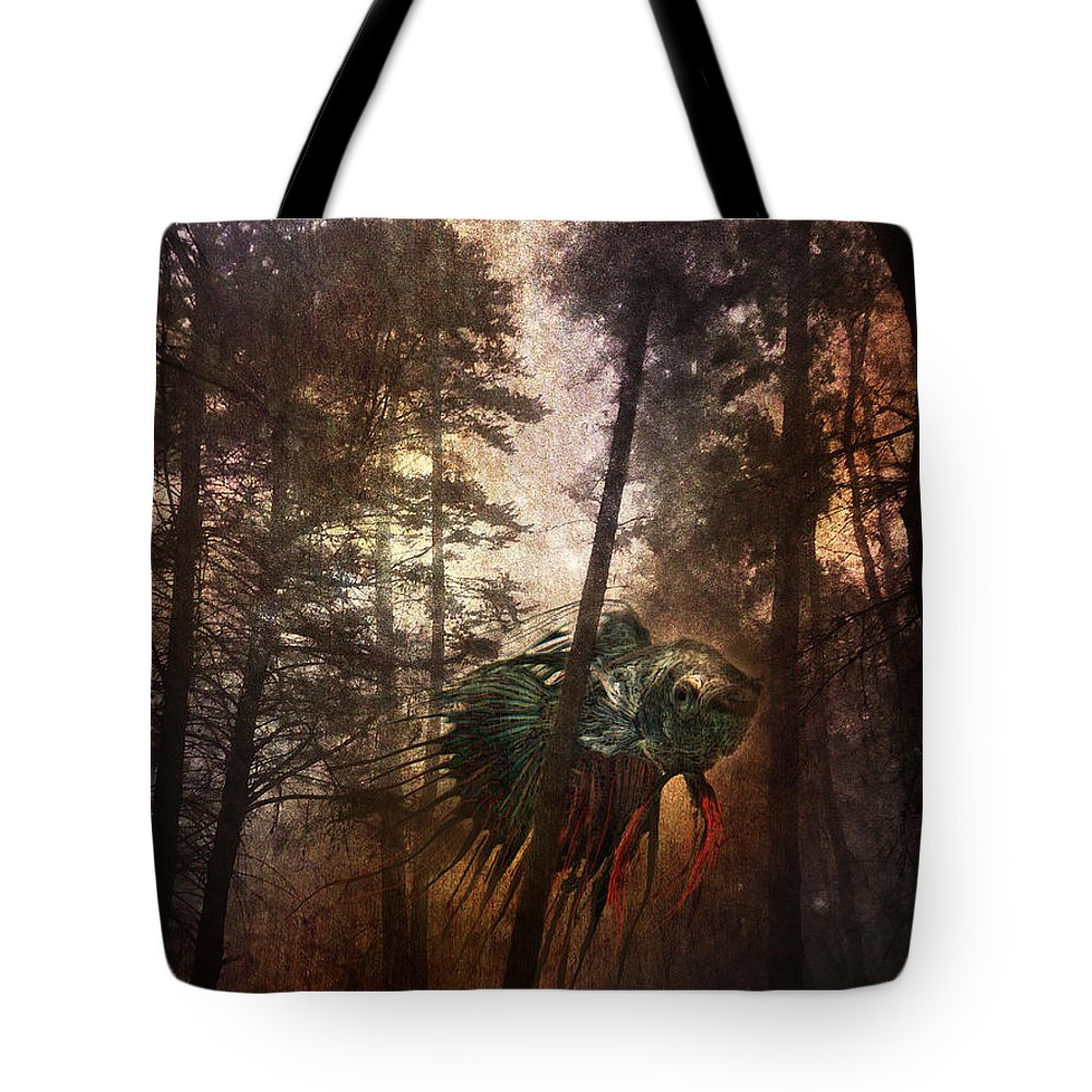 Beta Fish Tote Bag featuring the photograph Wandering Fish by Austin Howlett