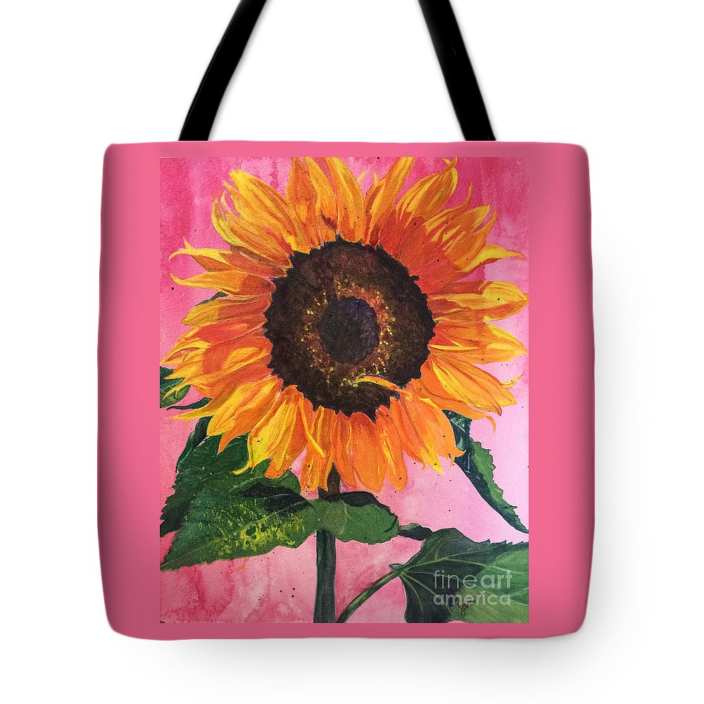 Sunflower Tote Bag featuring the painting Wantcha by Nila Jane Autry