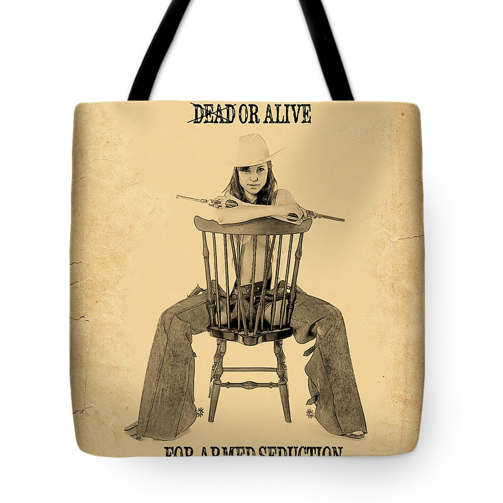 Wanted Poster Tote Bag featuring the photograph Wanted Alive by Doug Matthews