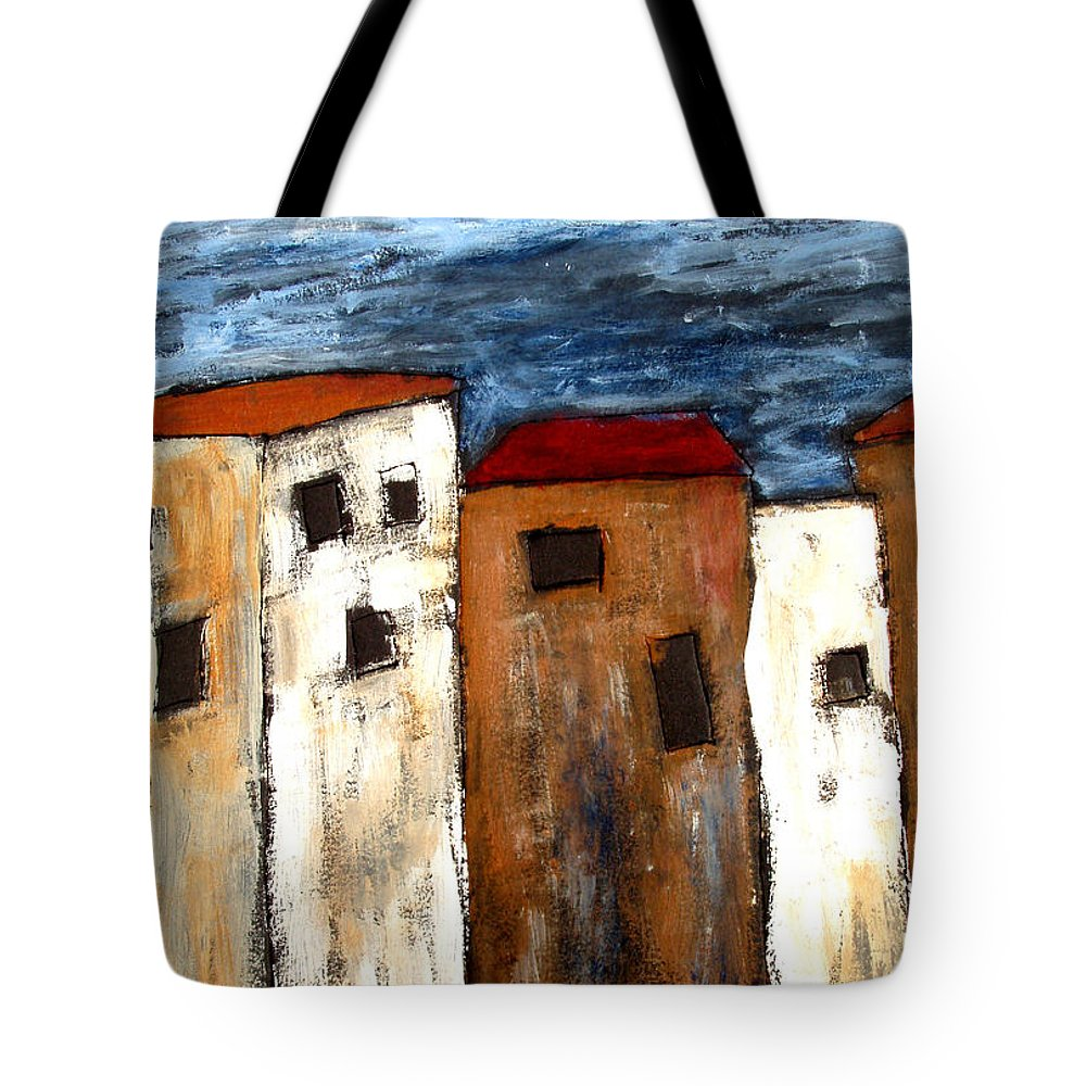 Acrylic Tote Bag featuring the painting Warehouse Row by Wayne Potrafka