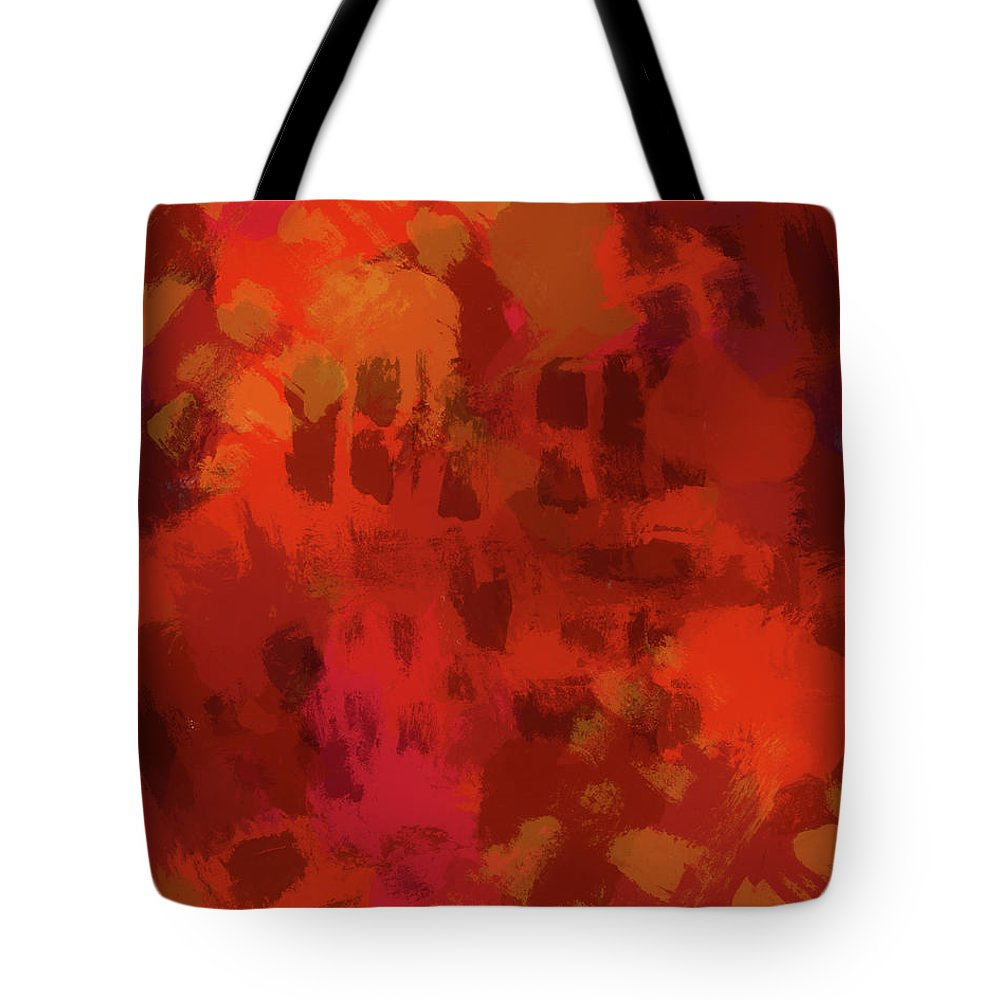 Warm Abstract 1 Tote Bag featuring the painting Warm Abstract 1 by Dan Sproul
