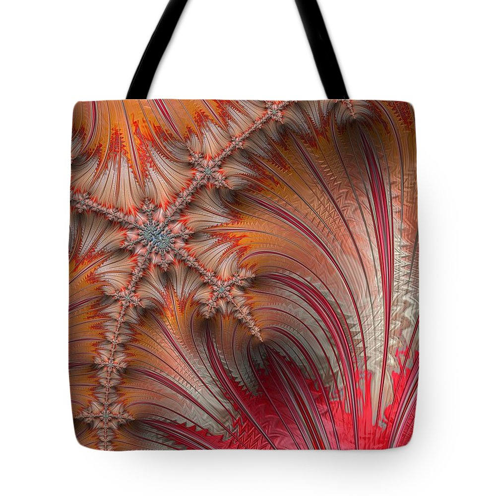 Fractal Tote Bag featuring the photograph Warm Arches by Constance Sanders