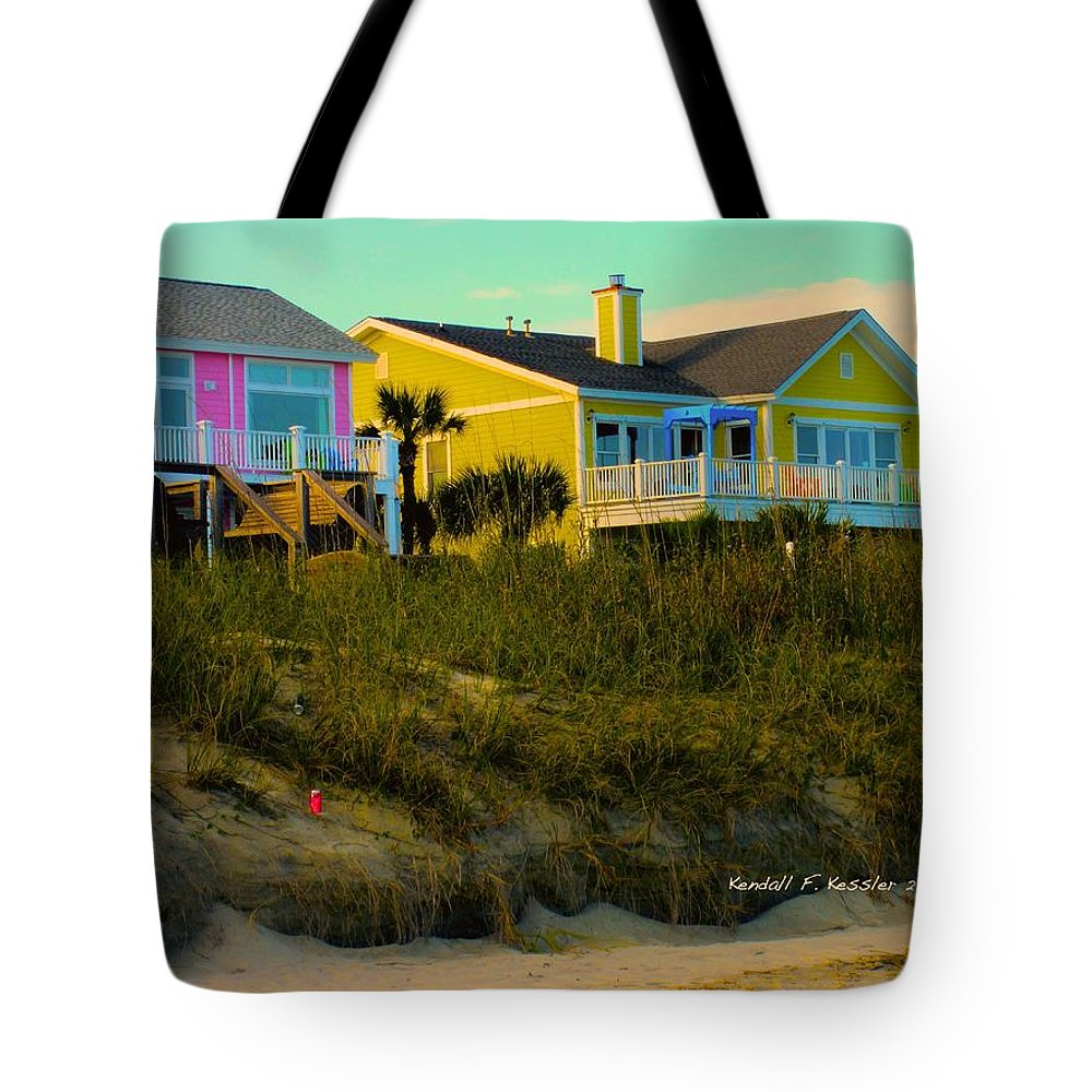 Kendall Kessler Tote Bag featuring the photograph Warm Evening At Isle Of Palms by Kendall Kessler