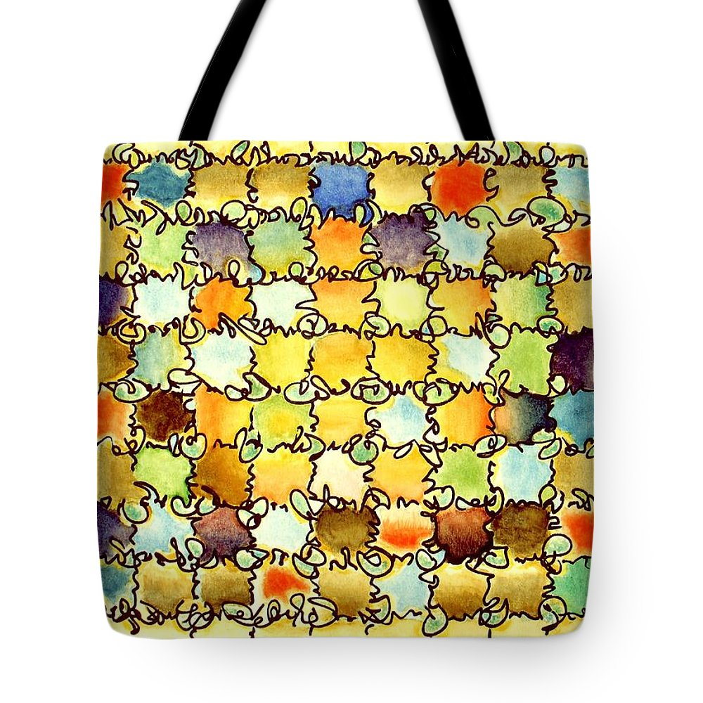 Abstract Tote Bag featuring the painting Warm Light by Dave Martsolf