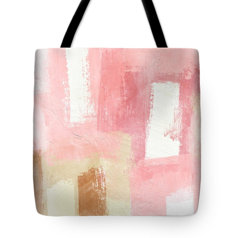 Abstract Painting Tote Bag featuring the painting Warm Spring 2- Abstract Art By Linda Woods by Linda Woods