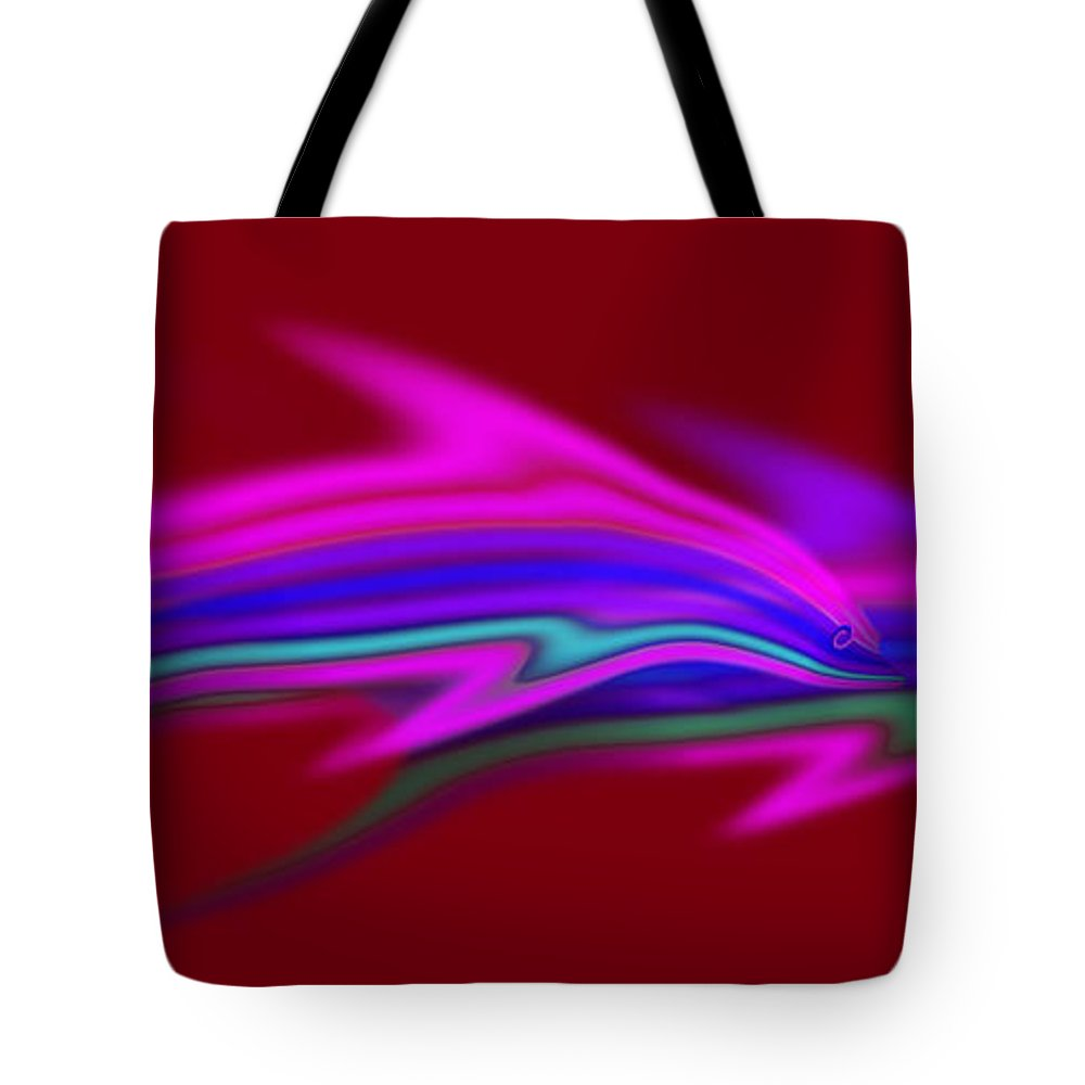 Dolpin Tote Bag featuring the painting Warm Waters by Charles Stuart