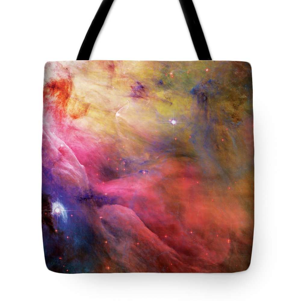 Nebula Tote Bag featuring the photograph Warmth - Orion Nebula by Jennifer Rondinelli Reilly - Fine Art Photography
