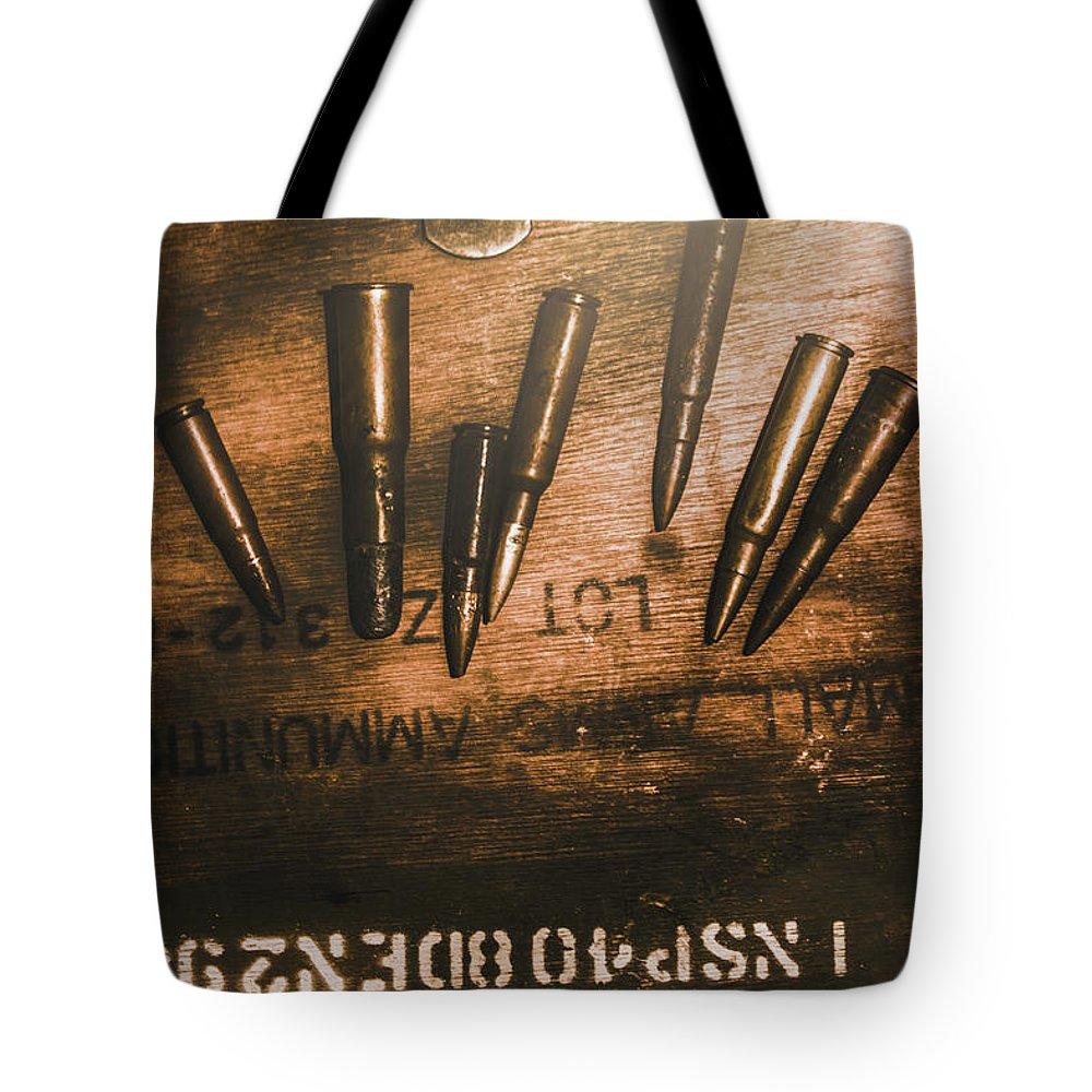 Army Tote Bag featuring the photograph Wars And Old Ammunition by Jorgo Photography - Wall Art Gallery