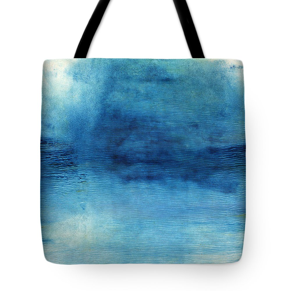 Blue Tote Bag featuring the painting Wash Away- Abstract Art by Linda Woods by Linda Woods
