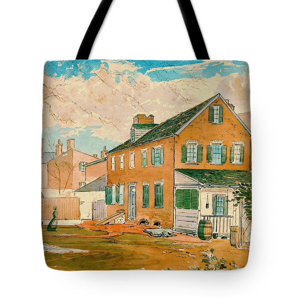 Washington D.c. Square 1874 Tote Bag featuring the photograph Washington D.c. Square 1874 by Padre Art