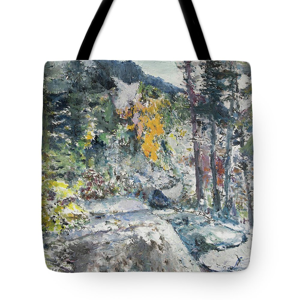 Forest Tote Bag featuring the painting The Enchantments by Craig Newland