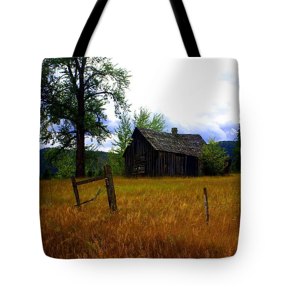 Landscape Tote Bag featuring the photograph Washington Homestead by Marty Koch