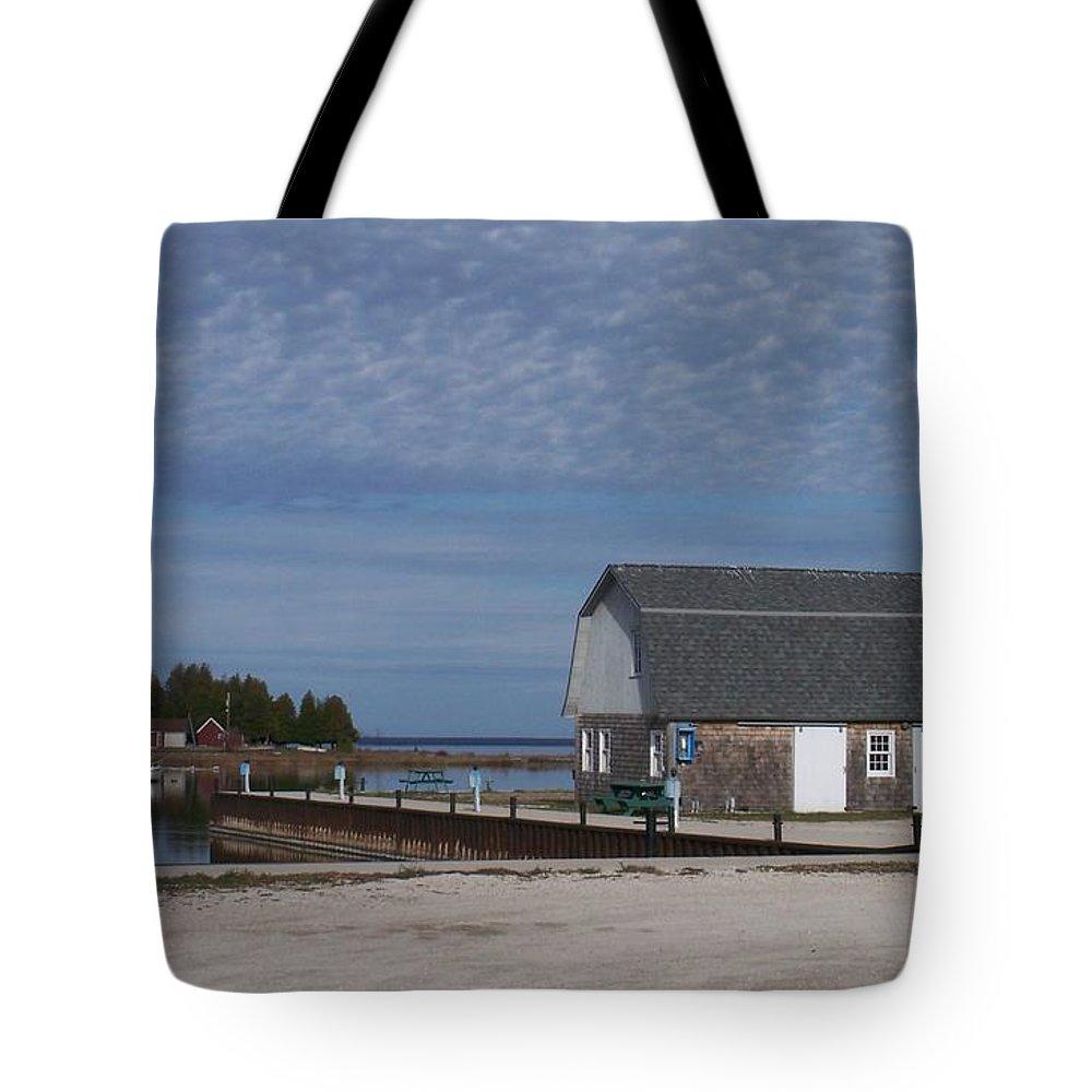 Washington Island Tote Bag featuring the photograph Washington Island Harbor 1 by Anita Burgermeister