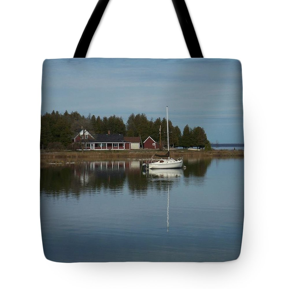 Washington Island Tote Bag featuring the photograph Washington Island Harbor 3 by Anita Burgermeister