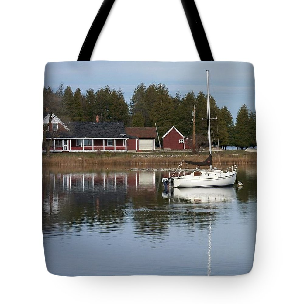 Washington Island Tote Bag featuring the photograph Washington Island Harbor 4 by Anita Burgermeister