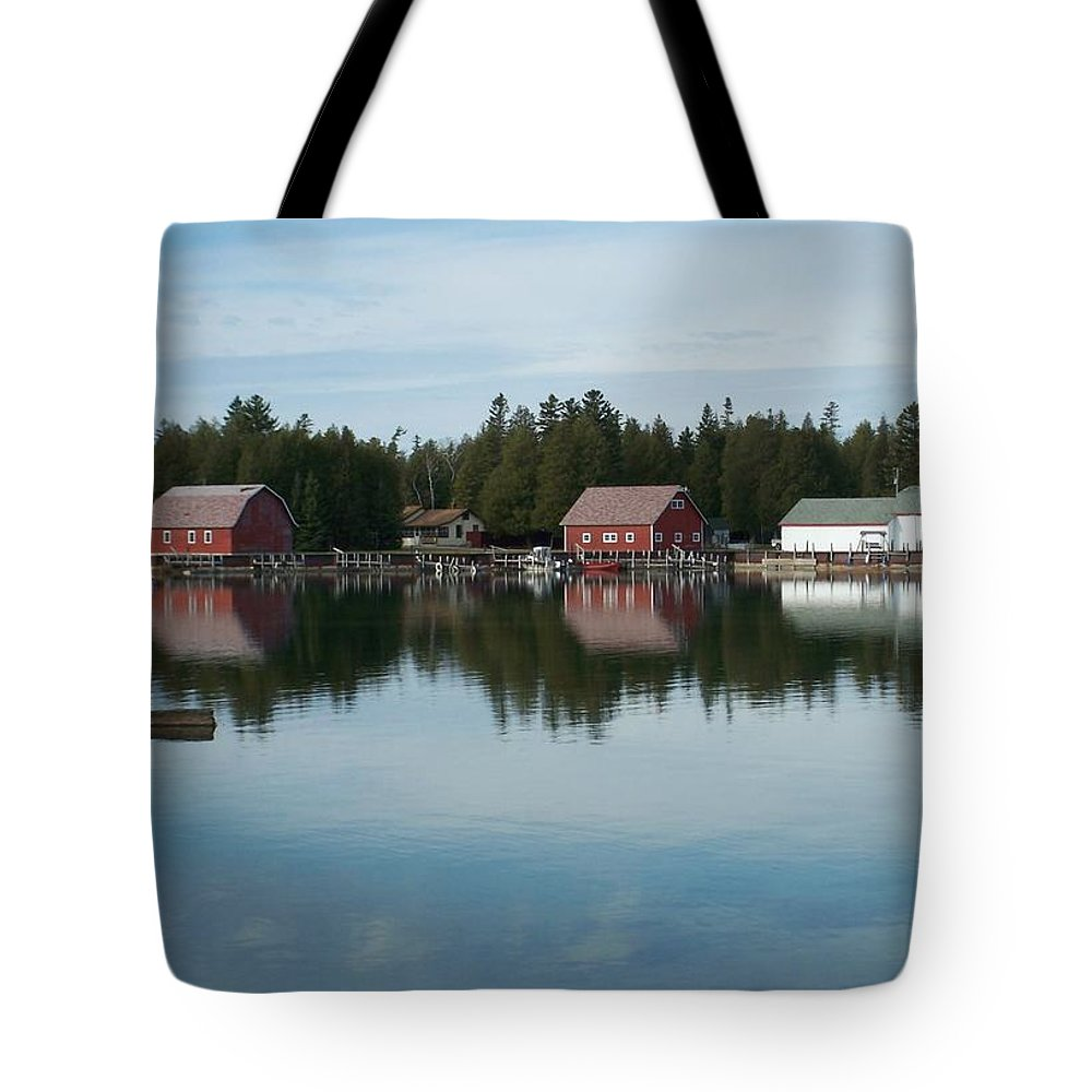 Washington Island Tote Bag featuring the photograph Washington Island Harbor 5 by Anita Burgermeister