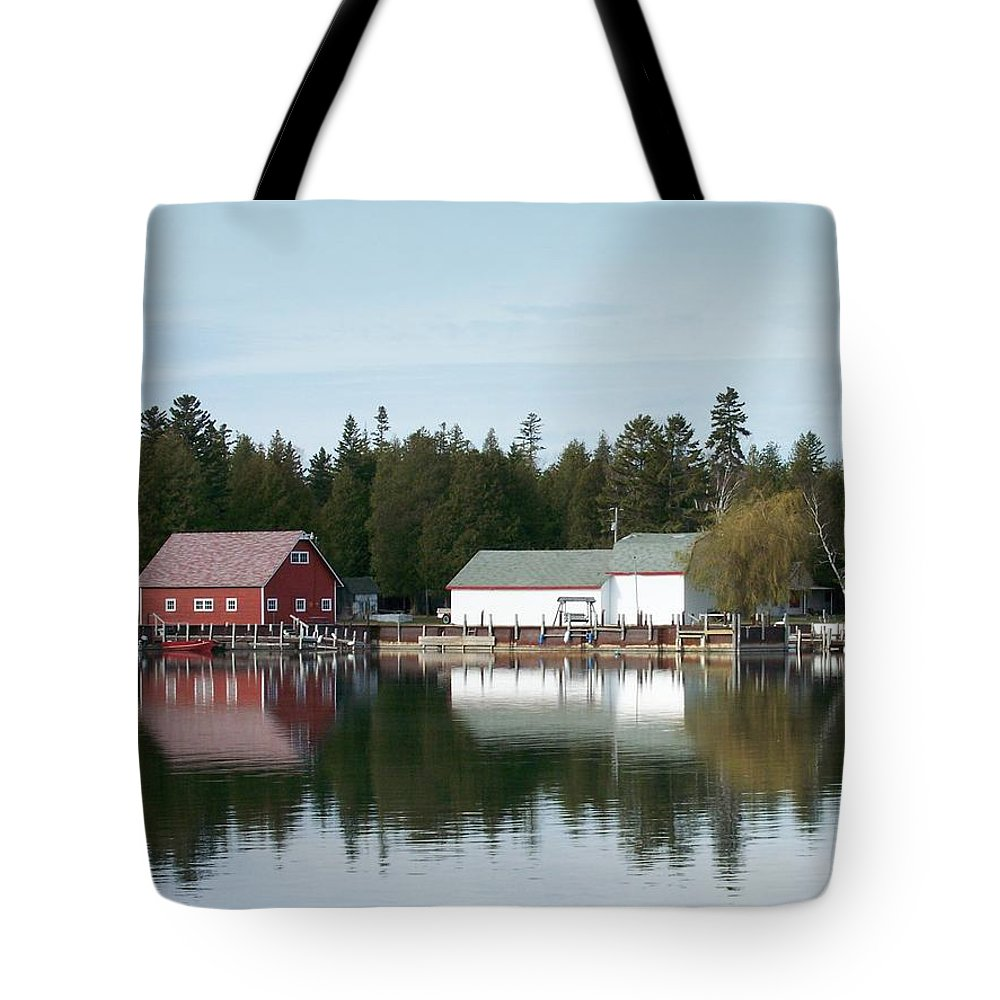 Washington Island Tote Bag featuring the photograph Washington Island Harbor 7 by Anita Burgermeister